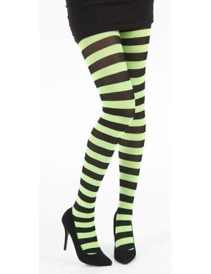 Collant Pamela Mann Rayures bicolores vert