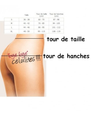 Body Invisible Gainant Janira guide des tailles