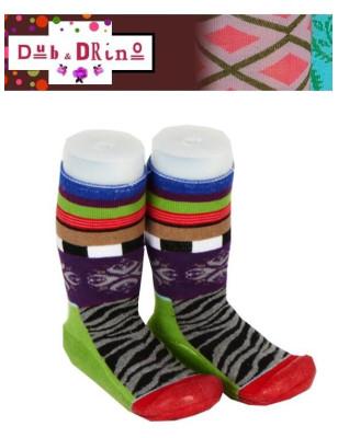 Chausson chaussettes Dub et Drino Zebre