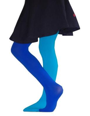 Collant Bicolore bleu turquoise Enfant