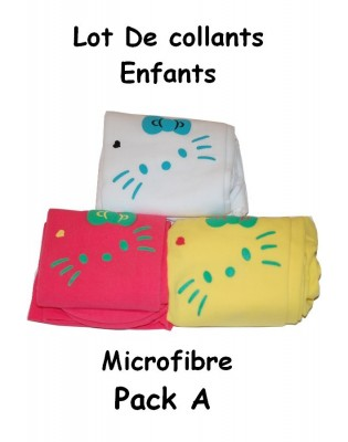 Collant enfant chat moustache lot A