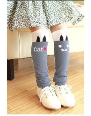 Mi bas Girly love Cats gris