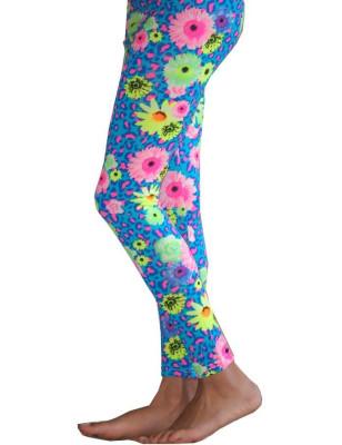 Legging Enfant tournesol psyché turquoise