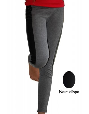 Legging coton Ado Coupé cousu simili