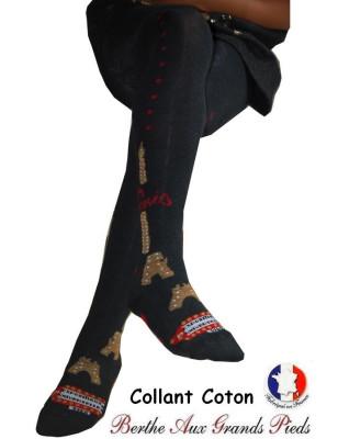 Collant tricoté Berthe aux grands pieds Paris 1900
