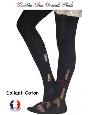 Collant tricoté Berthe aux grands pieds Paris 1900 profil