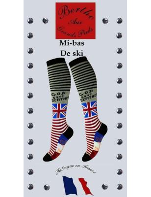 Chaussettes Berthe aux grands Pieds brtish Flag