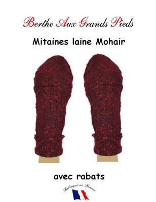 Mitaine Mohair Berthe aux grands Pieds bordeau