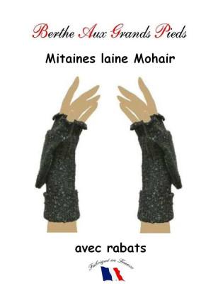 Mitaine Mohair Berthe aux grands Pieds gris