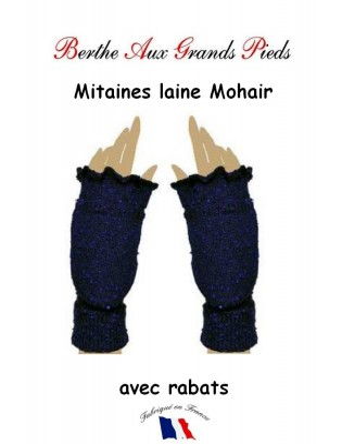 Mitaine Mohair Berthe aux grands Pieds bleu roi