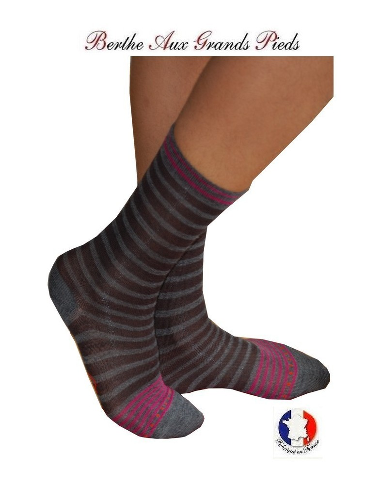 Chaussettes Berthe aux grands pieds homme Rayures Chic