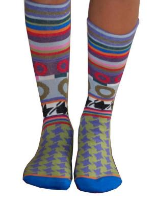 chaussettes dub et dino pieds de poule disco