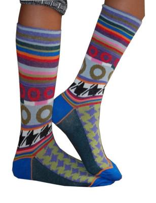 chaussettes dub et dino pieds de poule disco profil