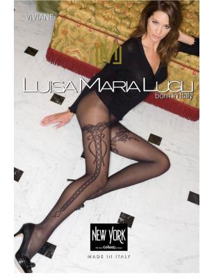 Collant Laçage Retro Maria Luisa Lugli
