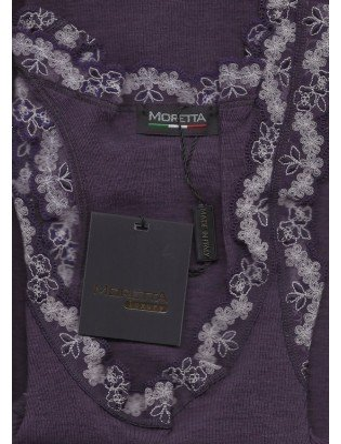 Debardeur Moretta  dentelle  Laine et soie violet