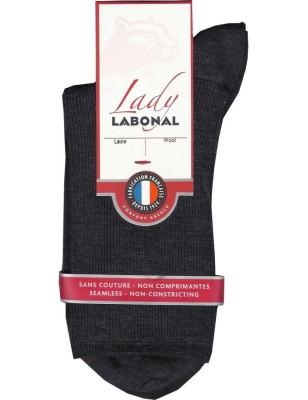 Chaussettes Labonal laine Non comprimante antracithe