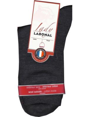Chaussettes Labonal Laine intérieure coton gris antracithe