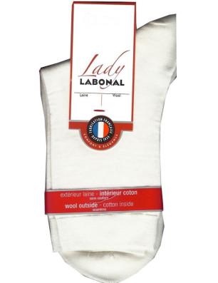 Chaussettes Labonal Laine intérieure coton gris ivoire