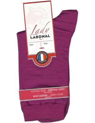 Chaussettes Labonal Laine intérieure coton fushia