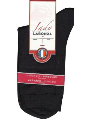 Chaussettes Labonal Laine intérieure coton noir