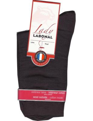 Chaussettes Labonal Laine intérieure coton marron