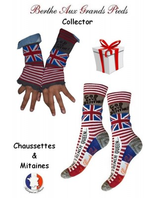 Coffret God save Berthe Collector Mitaines et chaussettes