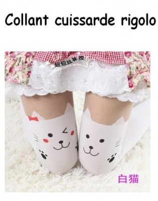 Collant cuissarde Chat Manga