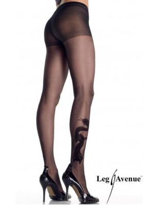 Collant tatoué Dragon Leg Avenue