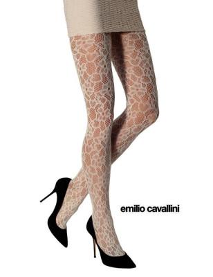 Collant Emilio Cavallini bouquet de dentelle