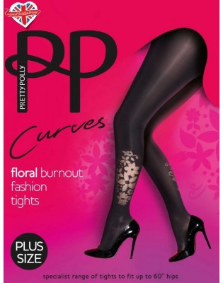 Collant Curves Pretty Polly opaque flowers