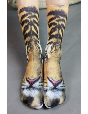 Chaussettes Imprimées Tigre