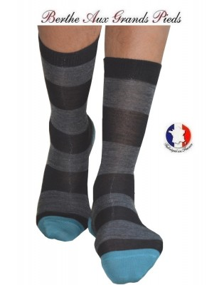 Chaussettes Berthe aux grands pieds Homme rayures jean