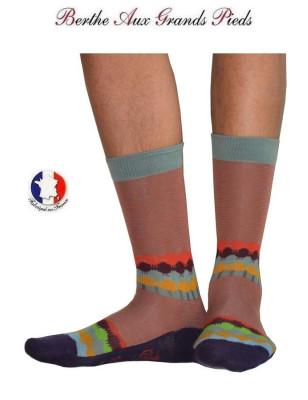 Chaussettes Berthe aux grands pieds décor de Toit homme