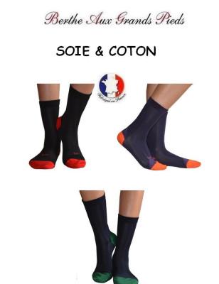 chaussettes Berthe aux grands pieds Soie rayures classiques