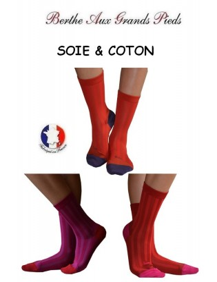 chaussettes Berthe aux grands pieds Soie couleur