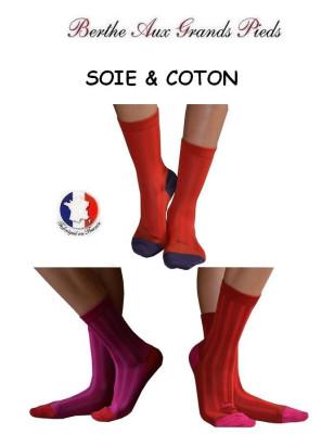 chaussettes Berthe aux grands pieds Soie rayures colorées