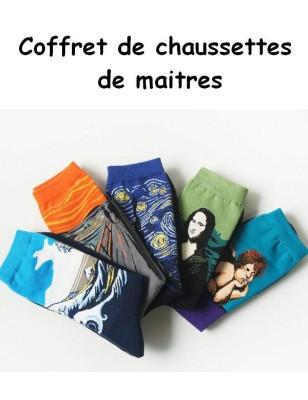 Box De chaussettes de maitres d'art Homme ART SOCKS