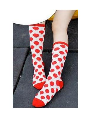 Chaussettes Boules rouges Coton
