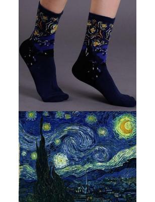 Chaussettes coton la nuit de Van Gogh