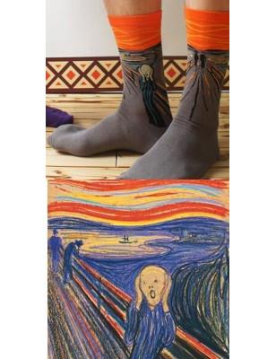 Chaussettes coton le cri de Munch
