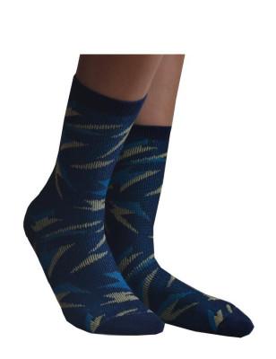 Chaussettes Coton Eclairs psychédéliques blue