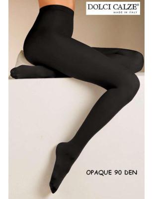 Collant opaque noir 90 Den Dolci Calze