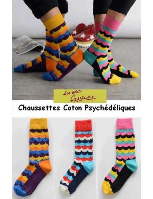 Chaussettes Vagues Psychédéliques