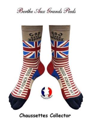 Chaussettes à doigts de pieds God Save Berthe